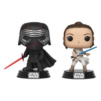 Star Wars Rise of Skywalker pack 2 POP! Vinyl Bobble Head Kylo & Rey 9 cm