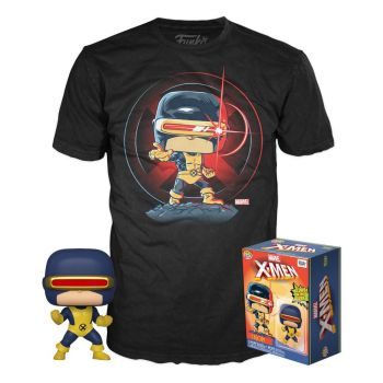 Marvel 80th POP! & Tee set figurine et T-Shirt First Appearance Cyclops