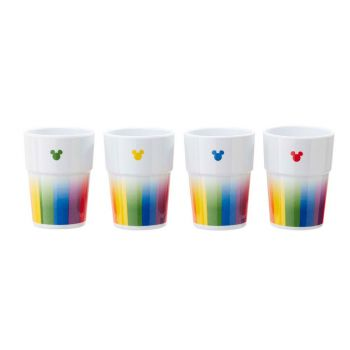 Disney pack 4 verres Tumbler Mickey Rainbow