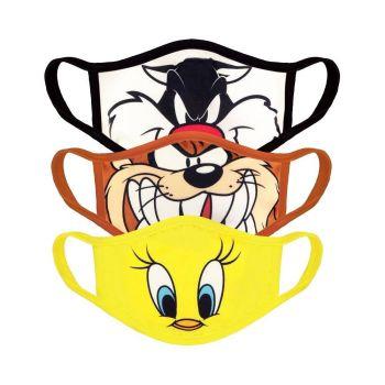 Looney Tunes pack 3 Masques en tissu Core