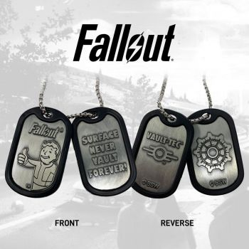 Fallout pendentifs Dog Tag Logo