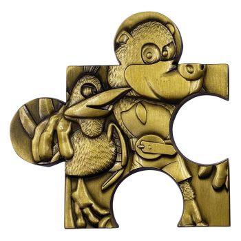 Banjo-Kazooie réplique pièce de puzzle Jiggy (plaqué or)