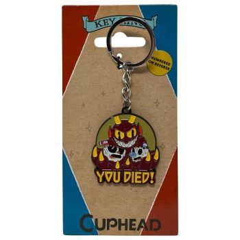 Cuphead porte-clés métal You Died! Limited Edition 4 cm