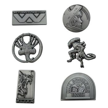 Alien pack 6 pin's Limited Edition