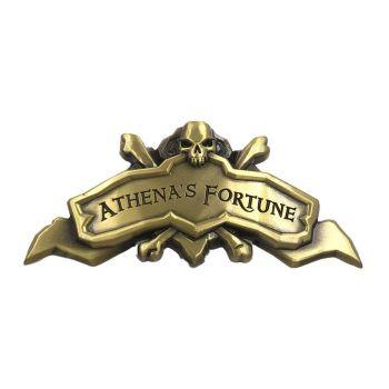 Sea of Thieves réplique Athena's Fortune Ship Plaque Antique