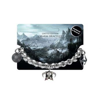 Elder Scrolls V Skyrim Bracelet Charm avec pendentifs Limited Edition