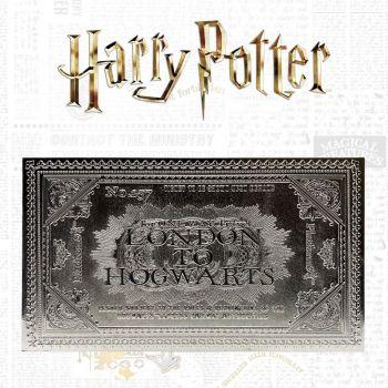 Harry Potter réplique Hogwarts Train Ticket Limited Edition (plaqué argent)