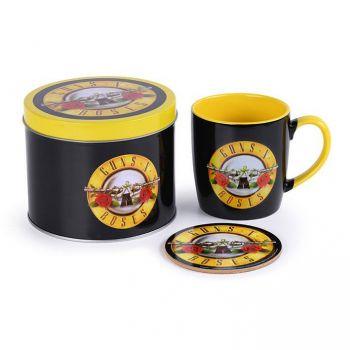 Guns N' Roses mug avec sous-verre Bullet Logo