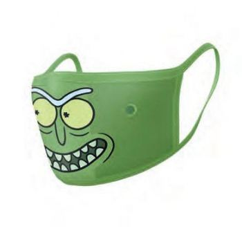 Rick et Morty pack 2 Masques en tissu Pickle Rick