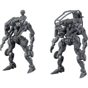 OBSOLETE figurine Plastic Model Kit Moderoid 1/35 Multi-Purpose EXOFRAME (Gray) 9 cm