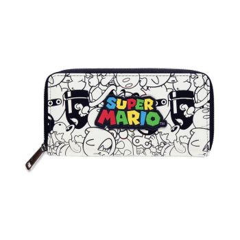 Super Mario porte-monnaie Zip Logo