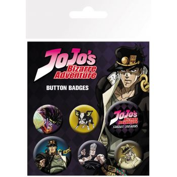 Jojo's Bizarre Adventure pack 6 badges Characters
