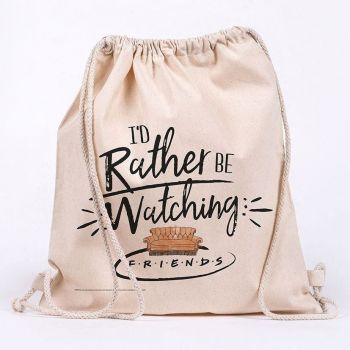 Friends sac en toile Rather Be Watching
