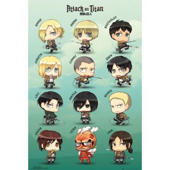 Attack on Titan pack posters Chibi Characters 61 x 91 cm (5)