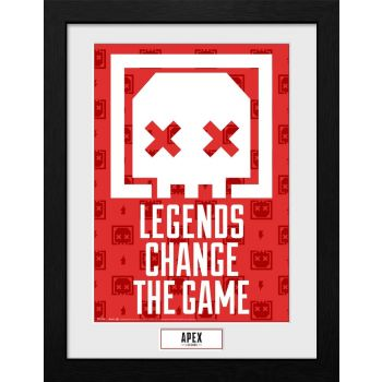 Apex Legends poster encadré Collector Print Legends Change The Game