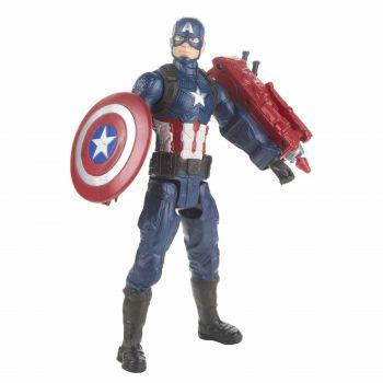 Avengers Endgame Titan Hero Series figurine Captain America 30 cm --- EMBALLAGE ENDOMMAGE