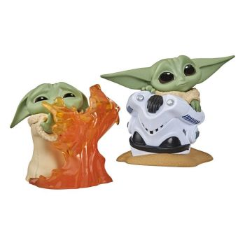 Star Wars Mandalorian Bounty Collection pack 2 figurines The Child Helmet Hiding & Stopping Fire