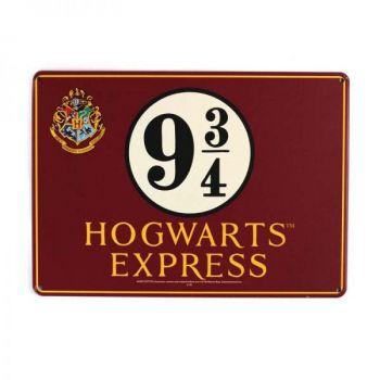 Harry Potter panneau métal Platform 9 3/4 21 x 15 cm