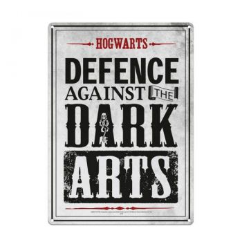 Harry Potter panneau métal Dark Arts 21 x 15 cm