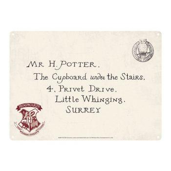 Harry Potter panneau métal Letters 21 x 15 cm