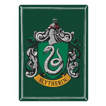 Harry Potter panneau métal Slytherin 21 x 15 cm