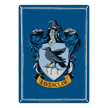Harry Potter panneau métal Ravenclaw 21 x 15 cm