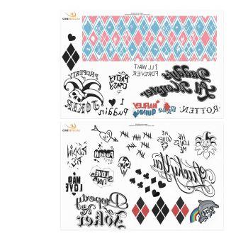 DC Comics set 40 tatouages temporaires Harley Queen