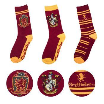 Harry Potter pack 3 paires de chaussettes Gryffindor