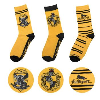 Harry Potter pack 3 paires de chaussettes Hufflepuff