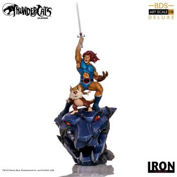 Cosmocats statuette BDS Art Scale 1/10 Lion-O & Snarf Deluxe 43 cm --- EMBALLAGE ENDOMMAGE
