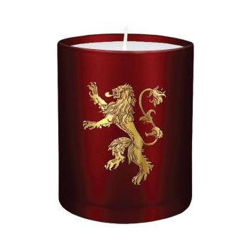 Le Trône de fer bougie verre House Lannister 8 x 9 cm