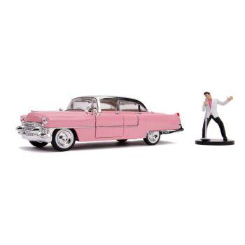 Elvis Presley 1/24 Hollywood Rides 1955 Cadillac Fleetwood métal avec figurine