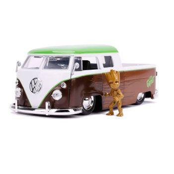 Les Gardiens de la Galaxie 1/24 Hollywood Rides 1962 Volkswagen Bus métal avec figurine --- EMBALLAGE ENDOMMAGE
