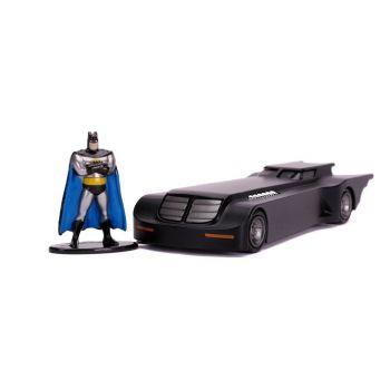 Batman The Animated Series 1/32 Hollywood Rides Batmobile métal avec figurine --- EMBALLAGE ENDOMMAGE