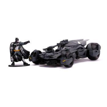 Justice League 1/32 Hollywood Rides Batmobile métal avec figurine