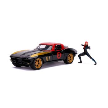 Marvel Avengers 1/24 Hollywood Rides 1966 Chevy Corvette métal avec figurine