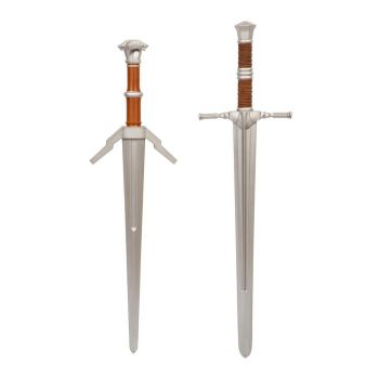 The Witcher pack 2 épées mousse 1/1 Steel and Silver