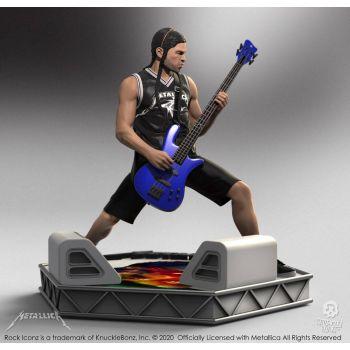 Metallica statuette Rock Iconz Robert Trujillo Limited Edition 22 cm --- EMBALLAGE ENDOMMAGE