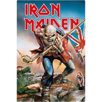 Iron Maiden panneau métal Trooper 20 x 30 cm