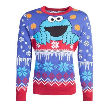 1 rue Sésame Sweater Christmas Cookie Monster