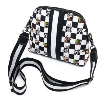 Looney Tunes by Loungefly sac à bandoulière B&W Check Character