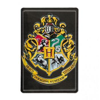 Harry Potter panneau métal 3D Hogwarts 20 x 30 cm
