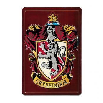 Harry Potter panneau métal 3D Gryffindor 20 x 30 cm
