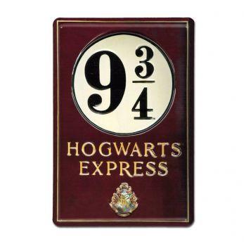 Harry Potter panneau métal 3D Platform 9 3/4 20 x 30 cm