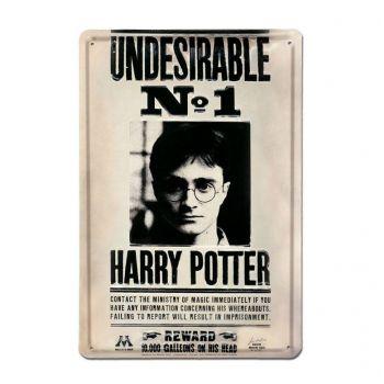 Harry Potter panneau métal 3D Undesirable No 1 20 x 30 cm