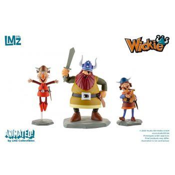Vic le Viking coffret 3 statuettes Halvar, Gorm & Ulme 9 - 16 cm