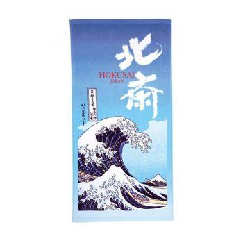 Ukiyo-e serviette de toilette The Great Wave of Kanagawa 70 x 140 cm