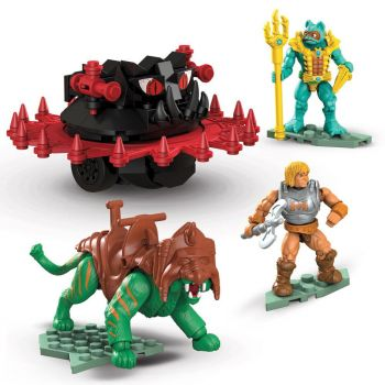 Masters of the Universe jeu de construction Mega Construx Probuilders Battle Cat vs. Roton
