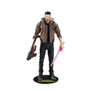 Cyberpunk 2077 figurine Male V 18 cm --- EMBALLAGE ENDOMMAGE