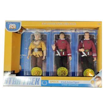 Star Trek pack 3 figurines Spock, Kirk & Khan 20 cm